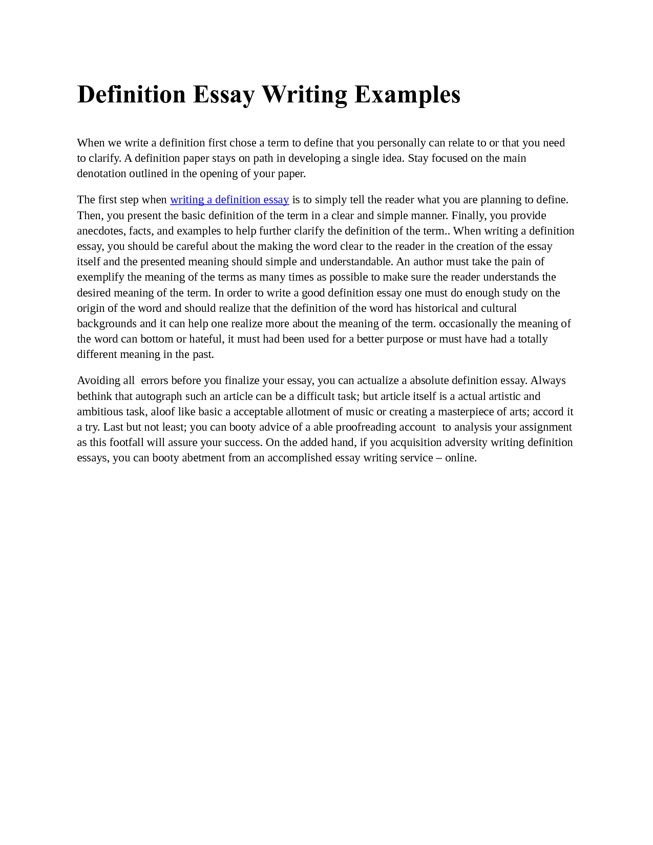 Sample Three Paragraph Essay | Resume CV Cover Letter